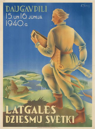 Latgales Dziesmu svētki. Daugavpilī 15. un 16.jūnijā 1940.g.