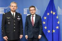 Visit of Luís de Almeida Sampaio, Permanent Representative of Portugal to NATO, and Denis Mercier, NATO Supreme Allied Commander Transformation (SACT), to the EC