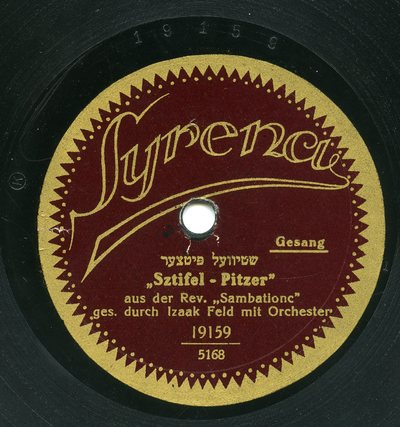 Sztifel-Pitzer, aus der Rev. Sambationc [sic]