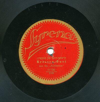 Kressen-Duet, aus Op. Sambation