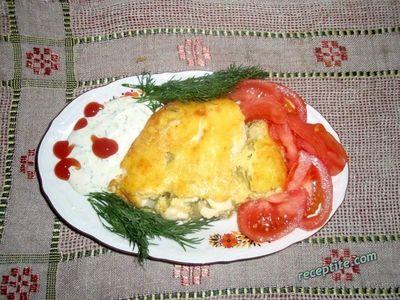 Тиквички с топено сирене