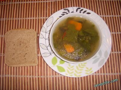 Супа от лапад и гъби