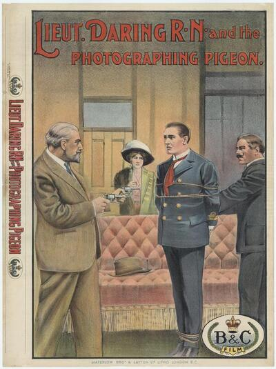Lieut. Daring R.N. and the photographing pigeon