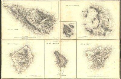 CARTE DE LA MOREE: ILE DE TINE, ILE DE SANTORIN, ILE DE NAXIE, ILE DE SIPHANTE, ILE D'AEGINE