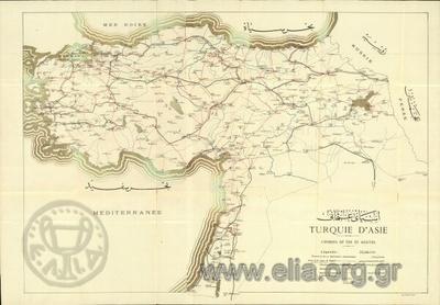 TURQUIE D' ASIE. CHEMINS DE FER ET ROUTES