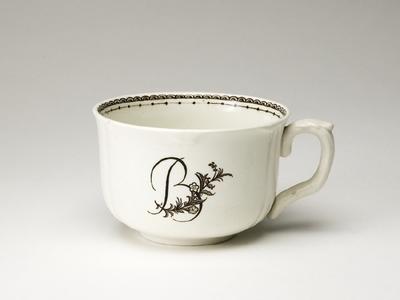 Kaffekopp med kvist och monogram B