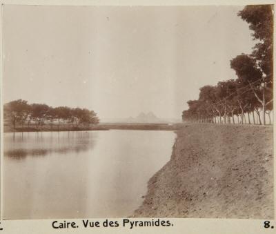 Fotografi. Vy från pyramiderna. Kairo, Egypten.
