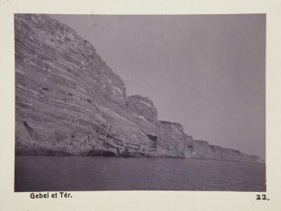 Fotografi. Gebel et-Ter, Egypten.