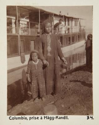 Fotografi. Ångfartyget Columbia, fotograferat i El-Hag Kandeel (Hâgg-Kandîl), Egypten.