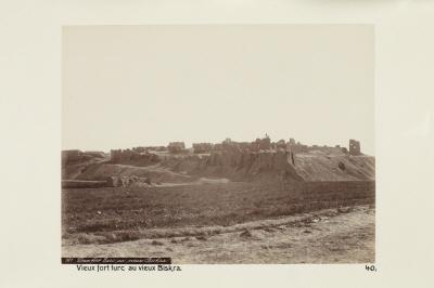 Fotografi. Det gamla turkiska fortet i Biskra, Algeriet.