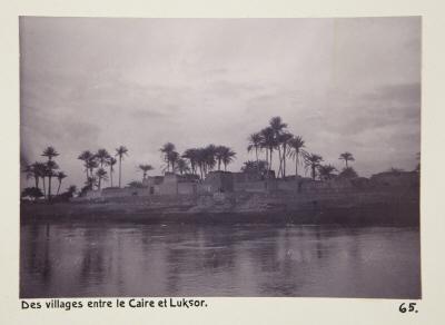 Fotografi. Byar mellan Kairo och Luxor, Egypten.