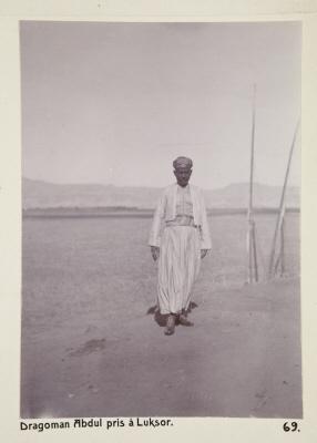 Fotografi. Dragomanen Abdul, fotograferad i Luxor, Egypten.