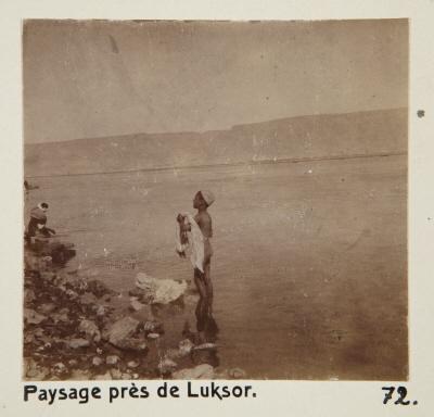 Fotografi. Landskap nära Luxor, Egypten.