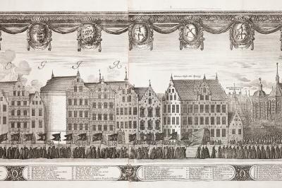 Kopparstick från Karl X Gustavs begravning.