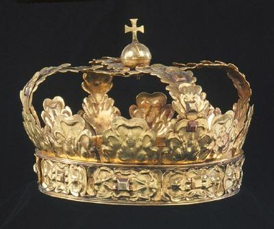 Krona av guld, tillhörande Karl X Gustavs begravningsregalier (nr 47-53).