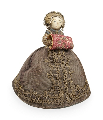Docka i form av liten dam, Sverige ca 1600.