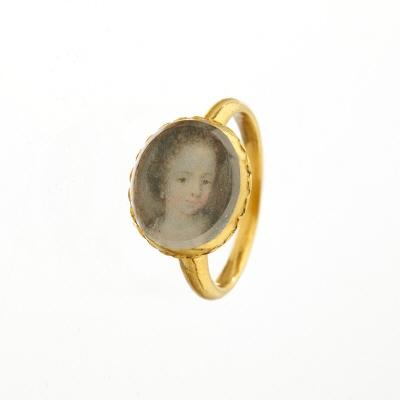 Ring med miniatyrporträtt av Hedvig Sofia ca 1690