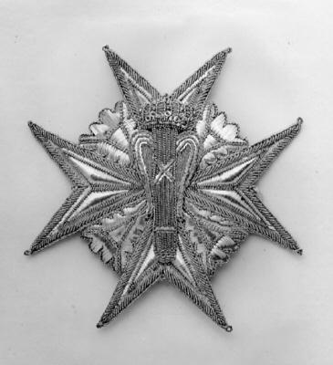 Dräktkraschan för kommendör med stora korset av Vasaorden, Sverige 1800-talets mitt.