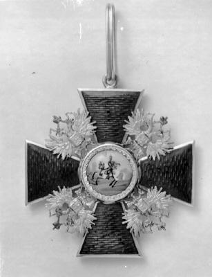 Ordenstecken, för riddare av ryska S:t Alexander Nevskijorden.