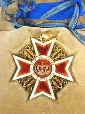 Ordenstecken för storofficer, rumänska Kronorden, Corona Romanici.