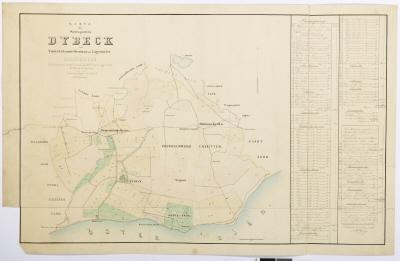 Karta över sätesgården Dybeck.