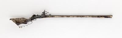 Hjullåslodbössa, Teschen, 1600-1800-tal(?), troligen starkt kompletterad.