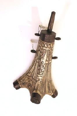 Kruthorn, 1500-talets senare del eller 1600-talets början, troligen tillverkat i Tyskland.
