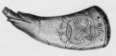Fängkruthorn, Sverige, 1691.