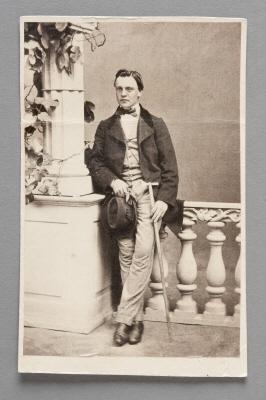 Fotografiporträtt på Edmund Fellenberg.