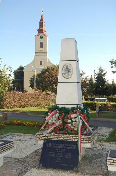 Füzesgyarmat, Az 1848-49-es forradalom és szabadságharc 193 füzesgyarmati résztvevőjének emlékműve