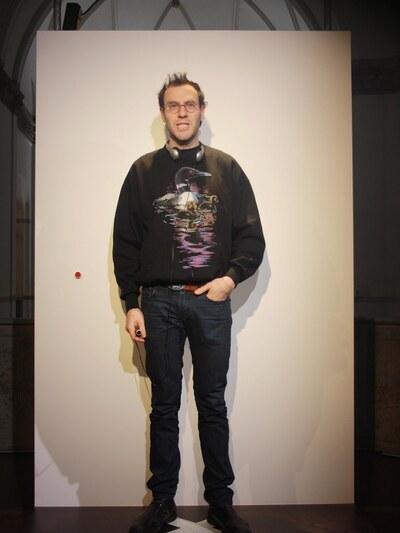 jeans, tryckt motiv på tröja
