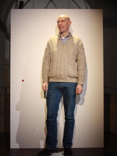 jeans, stickad tröja
