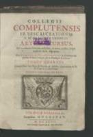 Collegii Complutensis Fr. Discalceatorum B. M. de Monte Carmeli Artium cursus […]. Tomus quartus […].