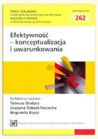 Koszty jakości jako miara efektywności działań w przedsiębiorstwie. Prace Naukowe Uniwersytetu Ekonomicznego we Wrocławiu = Research Papers of Wrocław University of Economics, 2012, Nr 262, s. 440-447
