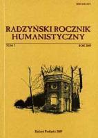 Radzyński Rocznik Humanistyczny T. 7 (2009)