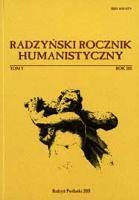 Radzyński Rocznik Humanistyczny T. 9 (2011)