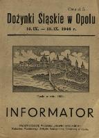 Dożynki Śląskie w Opolu 14-15 IX 1946