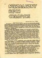 Niezależny Ruch Chłopski, [09].1978