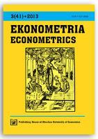 Determinants of poverty - binary logit model with interaction terms approach. Ekonometria = Econometrics, 2013, Nr 3 (41), s. 65-77