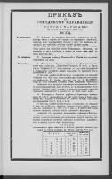 Prikazʺ po Gorodskomu Upravleniû Goroda Varšavy. 1899 nr 174 (26 VIII [7 IX])