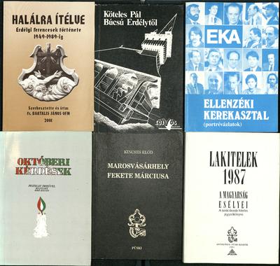 Könyvborító (6db, az ellenzéki kerekasztalhoz, valamint Erdélyhez kapcsolódva)