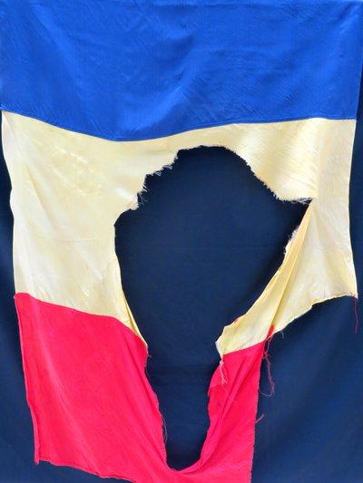 Forradalmi zászló Temesvárról