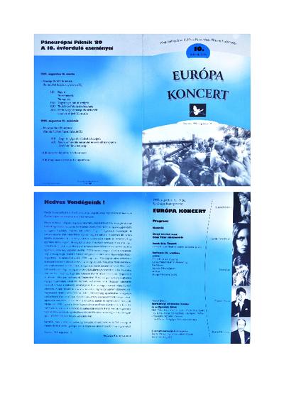 A soproni Európa Koncert programja (1999. augusztus 19.)