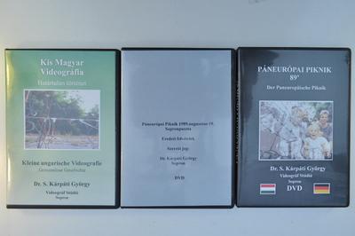 DVD-lemezek (Határtalan történet; Páneurópai Piknik - eredeti felvételek; Páneurópai Piknik '89)