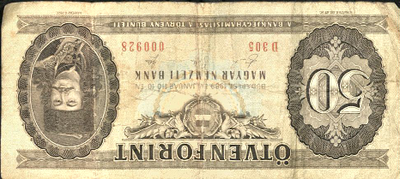 50 forintos papírpénz