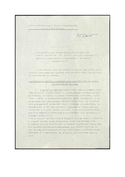 A Csongrád megyei rendőr-Főkapitányság helyzetértékelése (1981. április 23.)