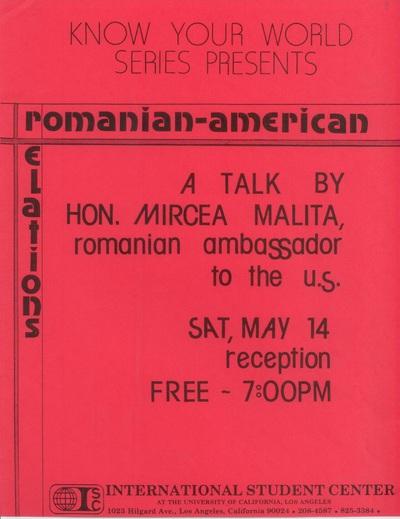 Materiale de promovare ale manifestării Zilele Culturii Române