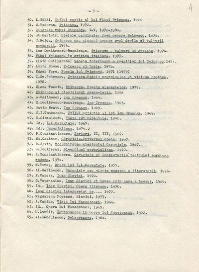 Documente privind activitatea didactică a Ioanei Em. Petrescu (1980-1981), lector la Facultatea de Filologie, în anul universitar 1984-1985