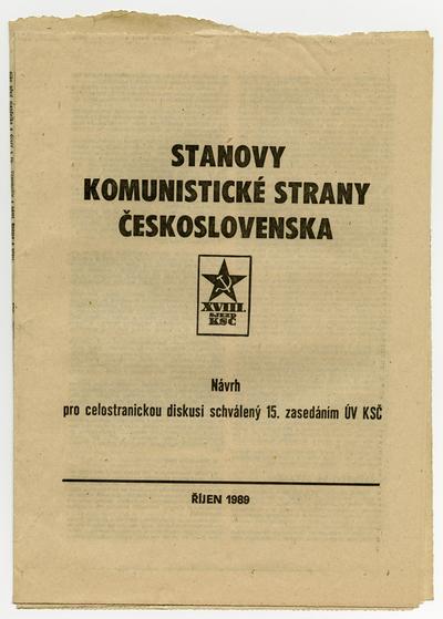 Stanovy Komunistické strany Československa