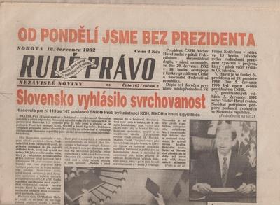 Rudé právo 1992